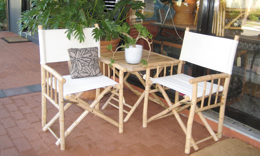 Save The Space By Using The Foldable Bamboo Chairs