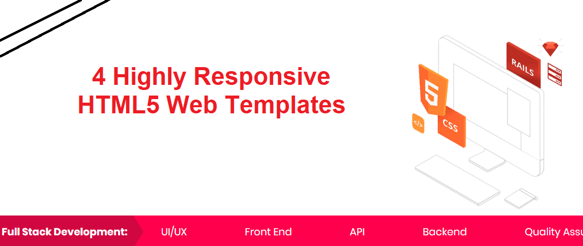4 Highly Responsive HTML5 Web Templates