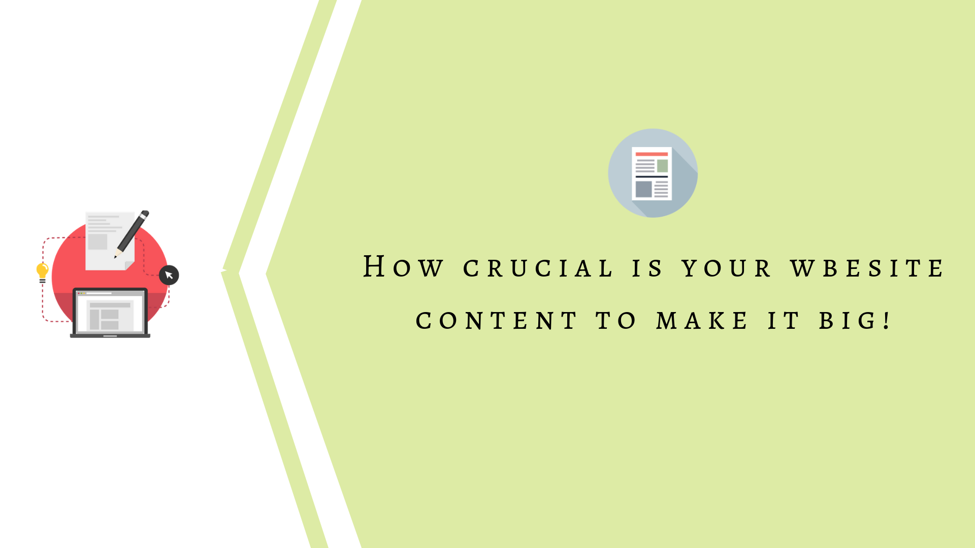 How Crucial is Your Website Content to Make it Big!