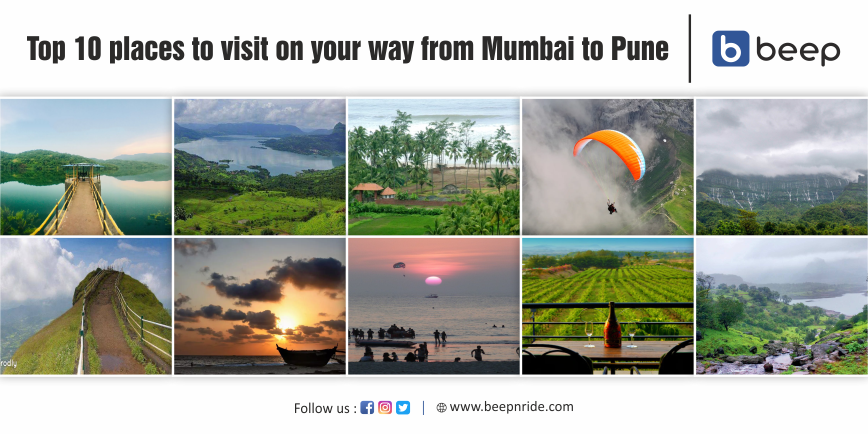 Top 10 Places To Visit on Your Way From Mumbai to Pune
