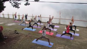 yoga-in-clouds-during