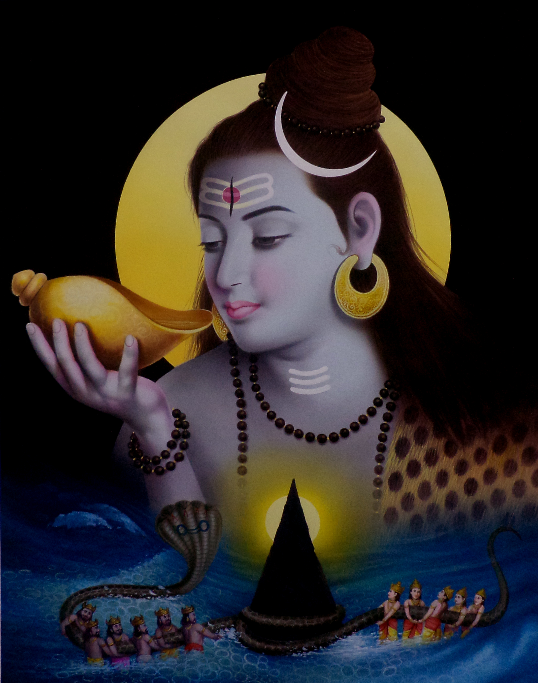 Understanding The Pillar In Lord Shiva Paintings