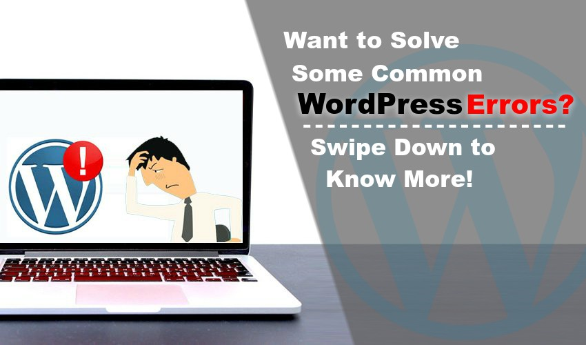 Want to Solve Some Common WordPress Errors? Swipe Down to Know More!