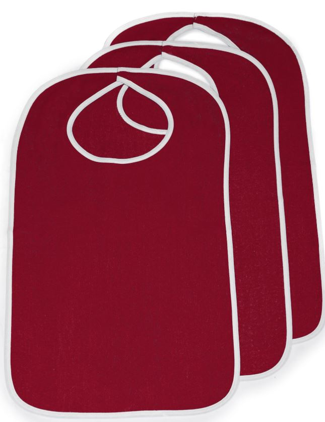Terry Cloth Adult Size Bib - Aging Adults