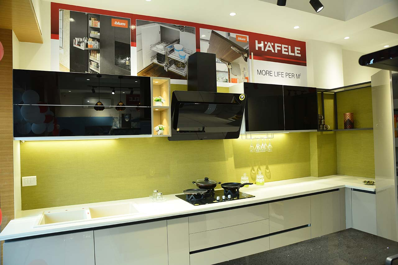 Yellow Green Modular Kitchen - Coronet Kitchen