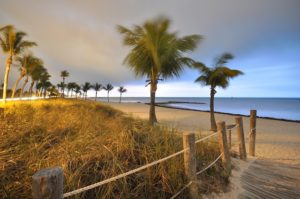 The beach on one of the cheapest places to live in Florida.