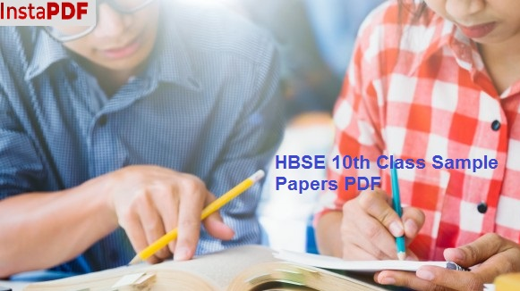 HBSE 10th Class Sample Papers PDF