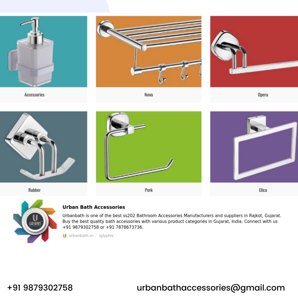 SS202 Bath accessories manufacturers Rajkot