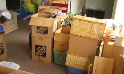Unpacking After Moving to a New House