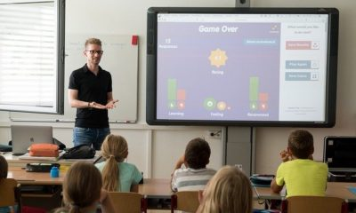 teacher teaching a well round education in classroom